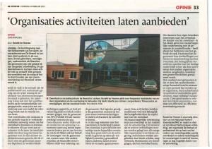 """Opiniestuk uit dagblad """"de Stendor"""" van 09 februari 2013"""