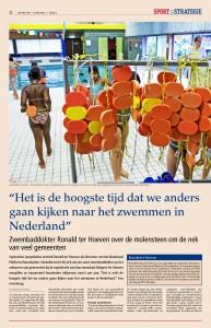 """Artikel uit het vakblad """"sport en strategie"""", maart 2013"""