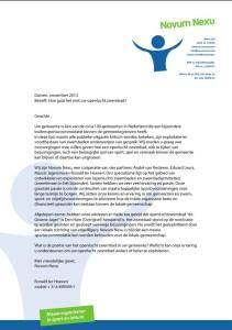 Brief aan gemeenten