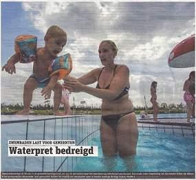 Gemeenten zitten in hun maag met zwembaden
